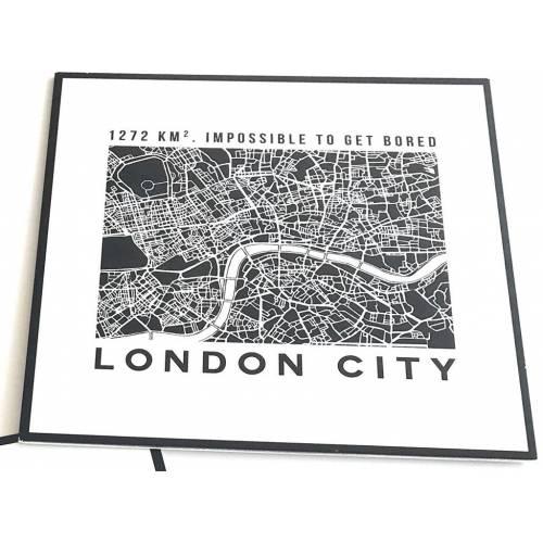 PLACA MAPA LONDON 27X27 ART...